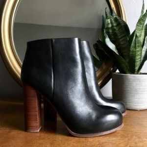 Vince Camuto Leather Ankle Boot Heels